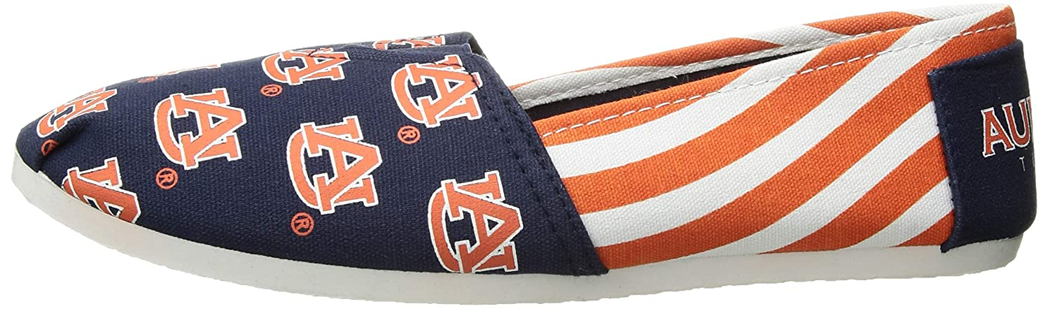 L FOCO Auburn Tigers NCAA Womens Stripe Canvas Shoes
