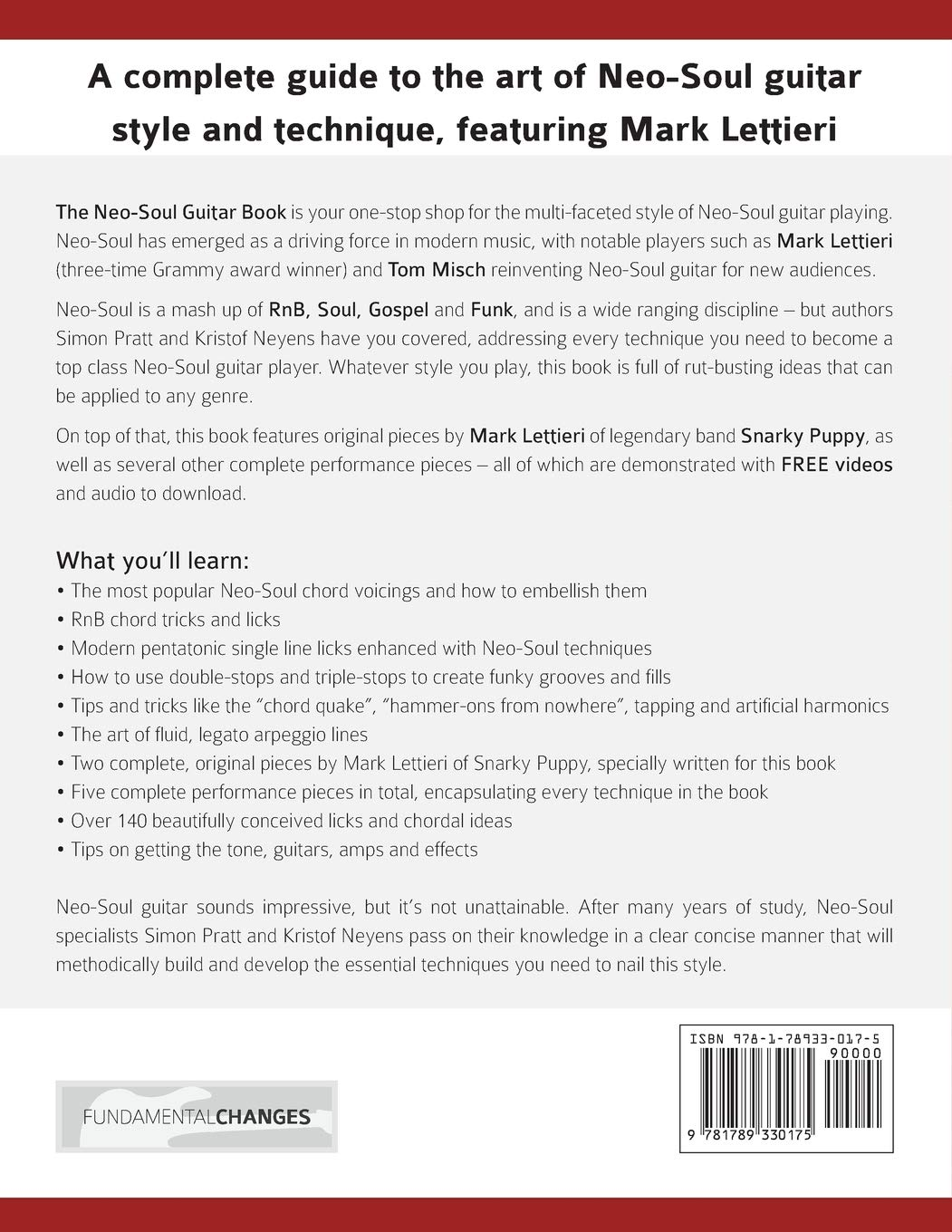 The Neo-Soul Guitar Book: A Complete Guide to Neo-Soul Guitar ...