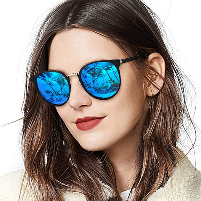 a539f73b03 Amazon.com  LVIOE Women s Cat Eye Sunglasses