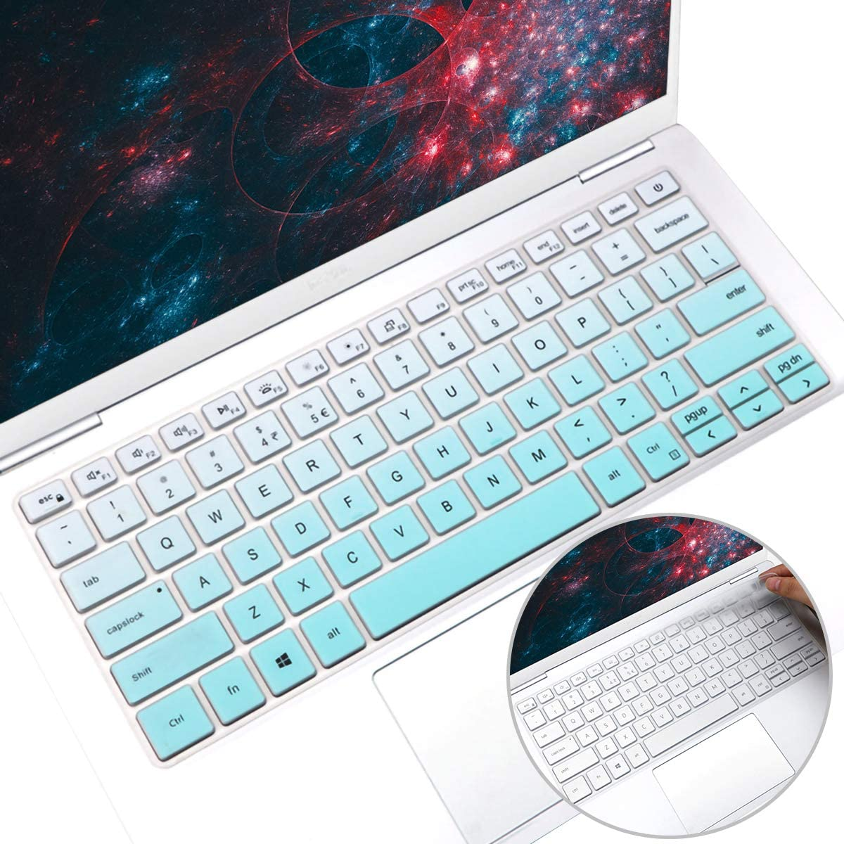 2Pcs i-Tensodo Keyboard Cover for 2020 2019 Dell Inspiron 13 5390 5391 7390 7391 13.3 /Dell Inspiron 14 5490 5493 5498 7490 /Dell Vostro 13 5390 5391 5490 US Layout Keyboard Skin,