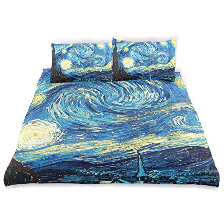Copripiumino Van Gogh.Vipsa Set Copripiumino Di Van Gogh Motivo Notte Stellata 3