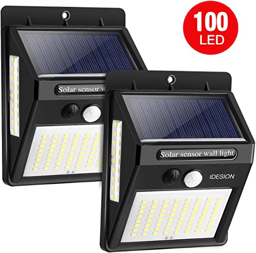 100 LEDs] Luces Solares LED Exterior 2200mAh Focos Solares con ...