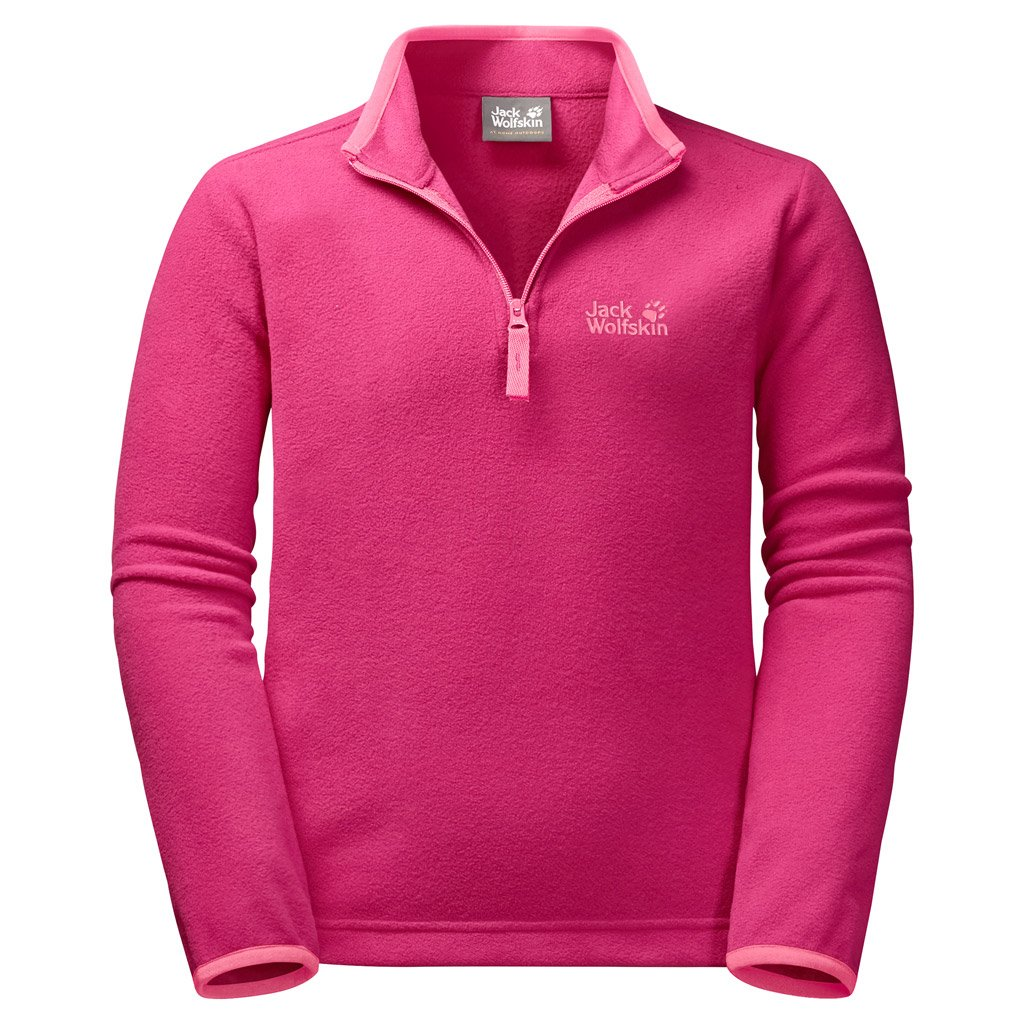 Jack Wolfskin Wolf Pullover, 128 (7-8 Years Old), Tropic Pink by Jack Wolfskin