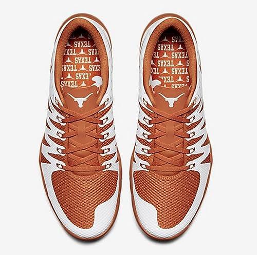 58f5a48ba1684 Nike Free Trainer 5.0 V6 AMP Shoes 723939 800 Size 15 Texas Longhorns Burnt  Orange White  Amazon.ca  Shoes   Handbags