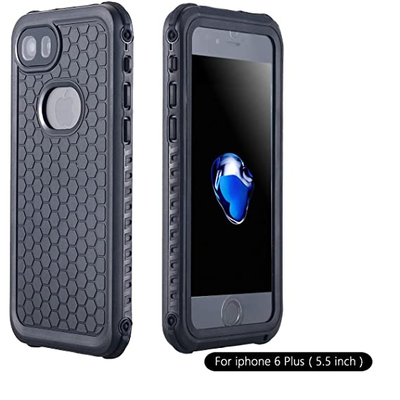 best sneakers e87e5 bb7f6 iPhone 6S Plus Waterproof Case, AICase Dual-use Underwater Waterproof  Shockproof Dustproof Dirtproof Full Sealed Heavy Duty Protective Cover for  Apple ...