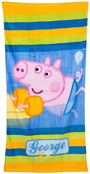Peppa Pig Infantil con Forma Summer diseño de Playa Toalla de baño Toalla de Bolsa de natación con Cierre George para niños Ropa de Descanso para niñas: ...