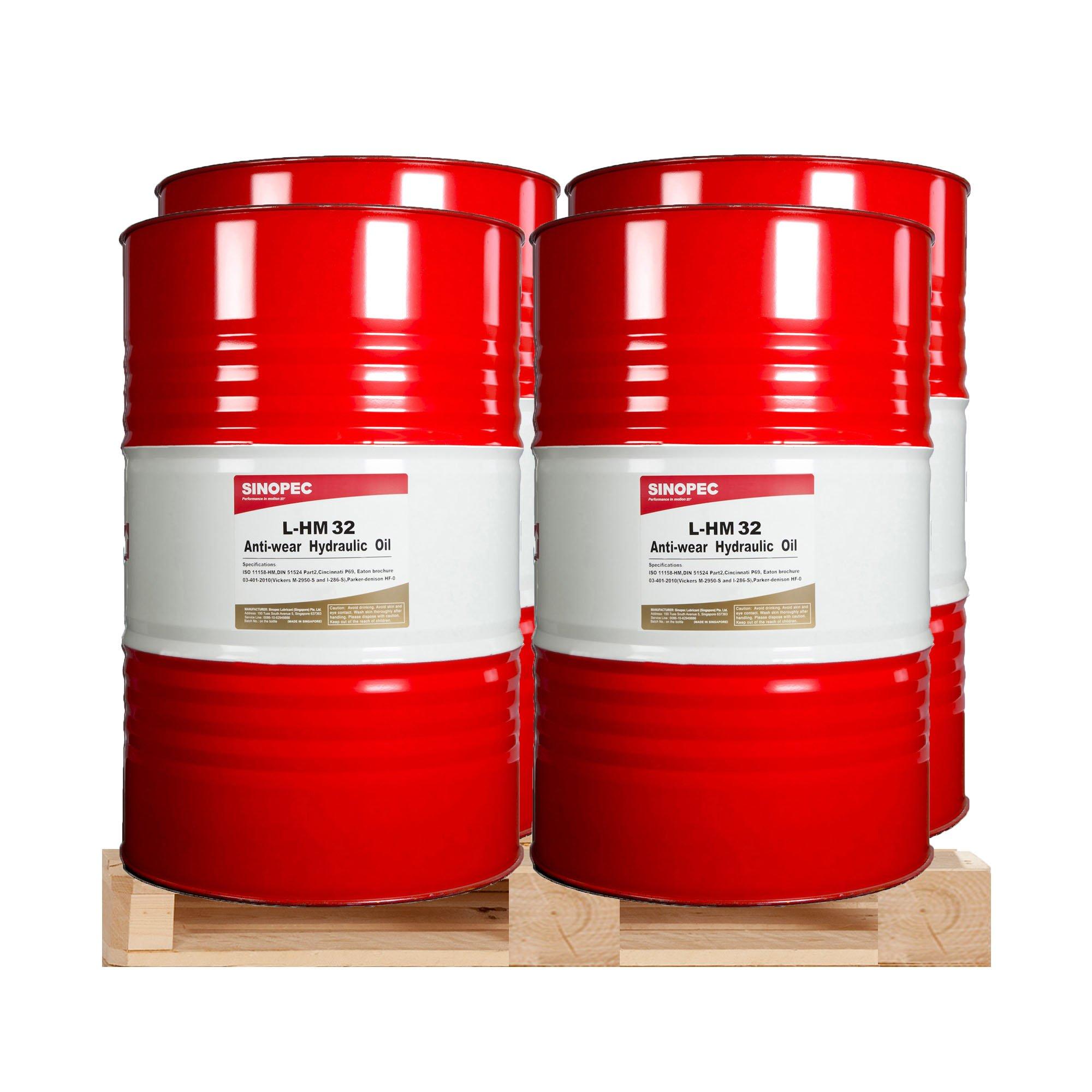 $299 Each - AW 32 Hydraulic Oil - (4) 55 Gallon Drums by Sinopec