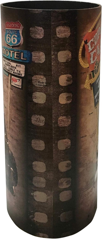 Portabastoni Vintage HxLxP - Art Rebecca Mobili Portaombrelli Design RE6473 per Ingresso Casa Ufficio Misure: 50 x 20 x 20 cm MDF Canvas