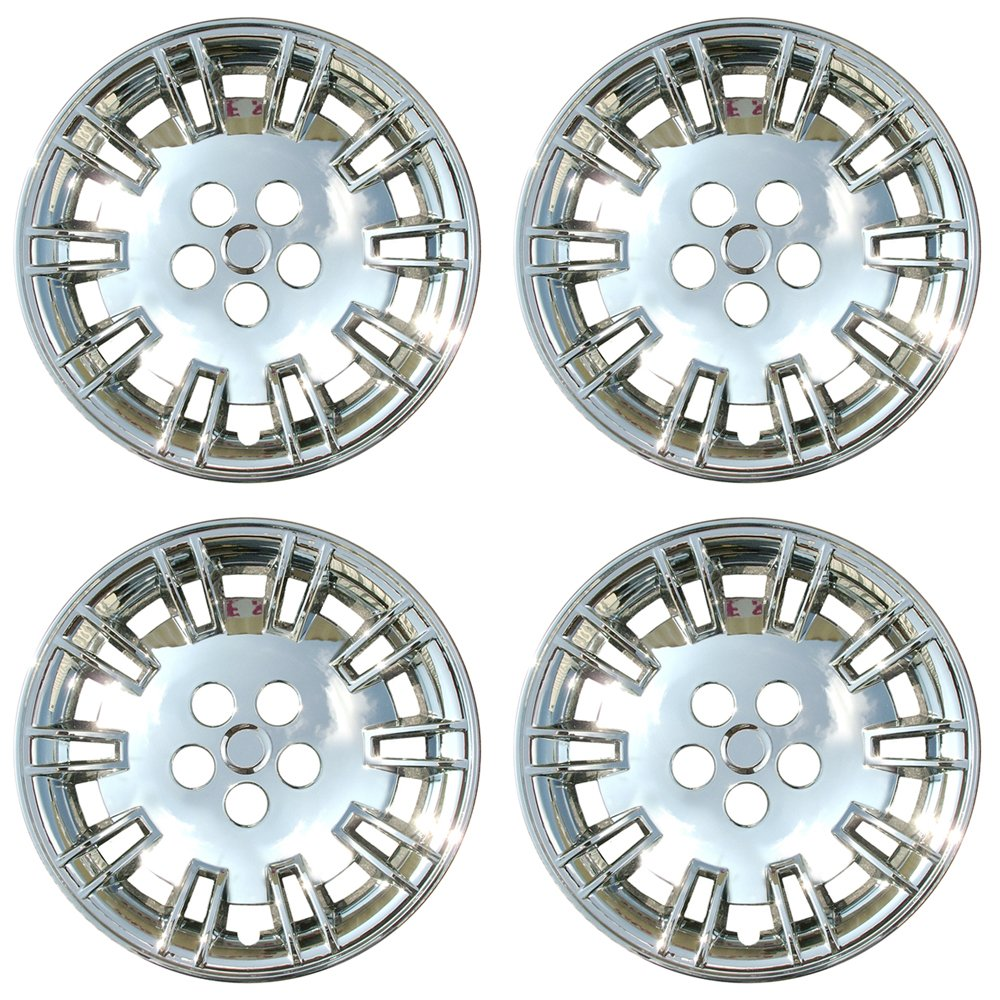 Wheel Covers 17in Hub Caps Chrome Rim Cover - Car Accessories for 17 inch Wheels - Snap On Hubcap, Auto Tire Replacement Exterior Cap Set of 4 17 inch Hubcaps Best for 2005-2007 Chrysler 300
