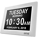 American Lifetime [Newest Version] Day Clock - Extra Large Impaired Vision Digital Clock with Battery Backup & 5 Alarm Options