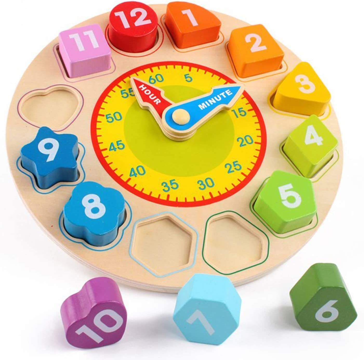 Wooden Baby Math Clock Learning Education Toys Number Stick Magnetic Math Puzzle