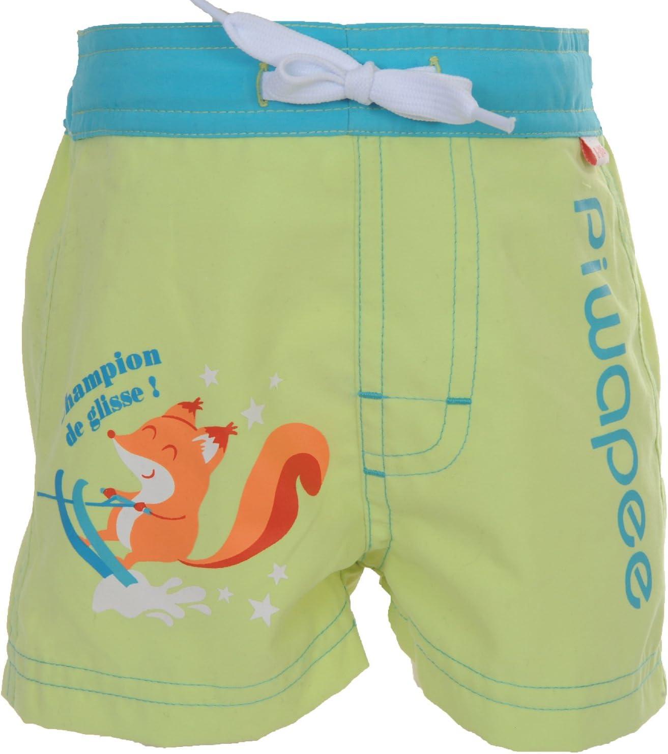 6-12M Piwapee/ /Pantaloncini con strato di Bagno Incastrabile Swim Anti Fuga VERDE ANICE Blu Scoiattolo verde Vert anis//Bleu 8-11 KG