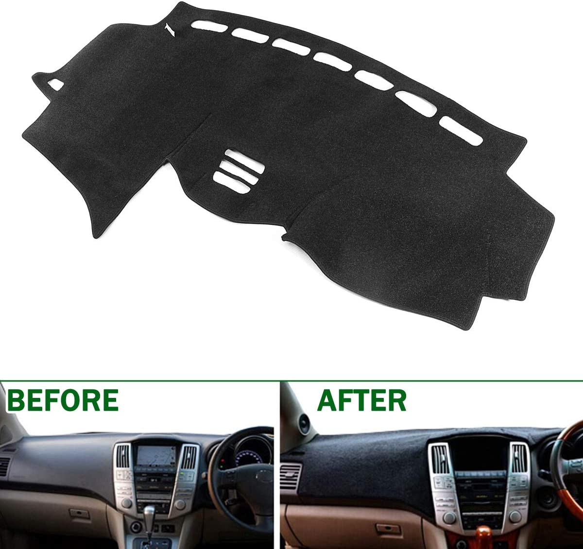 AutoTech Zone Dashboard Protector Dash Mat Sun Cover for 2016-2018 Chevrolet Spark Reduce Hazardous Windshield Glare