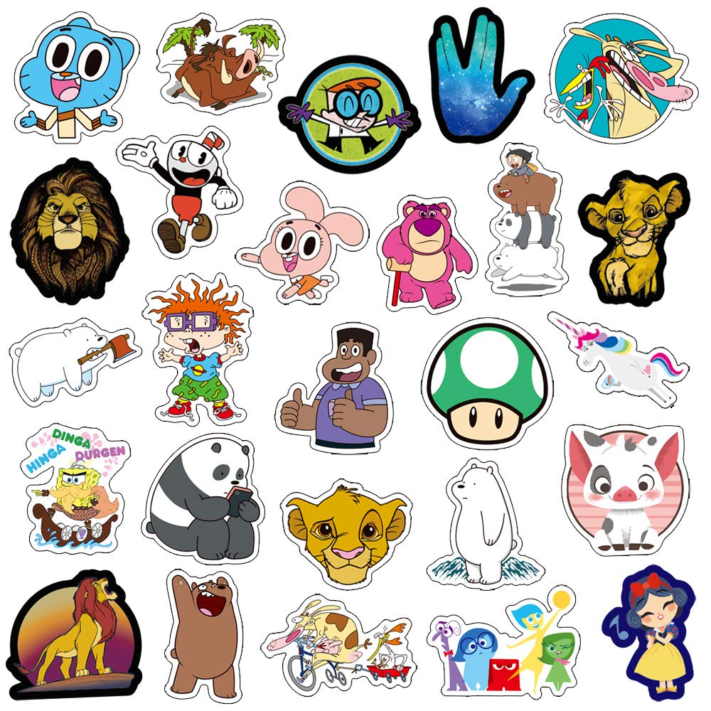 Qwddeco cute sticker pack 101 pcs vinyl stickers for laptopskateboardbikeluggageps4xbos oneiphone party favors for teensboys and girls graffiti