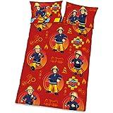Herding Bettwäsche-Set Feuerwehrmann Sam, Baumwolle, Mehrfarbig, 135 x 100 cm