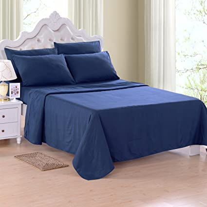 Jml Fitted Bed Sheet Set Queen Size, Breathable U0026 Hypoallergenic Brushed  Microfiber   Stretches To