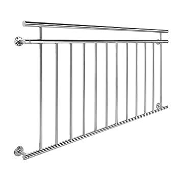 Wiltec Balkongelander Edelstahl 90x156cm Franzosischer Balkon