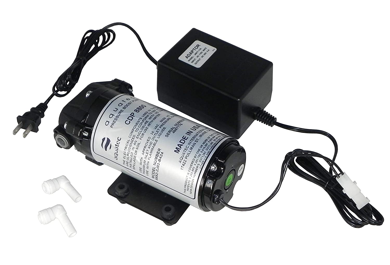 Aquatec 8800 Series 8852 Water Pressure Boost Pump (+ Heavy Duty 3 Amp Transformer) for aeroponics 100 to 200 GPD RO System