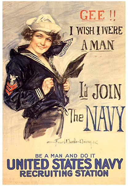 US Navy Id Join The WWII Propaganda Vintage Poster 13 X 19in