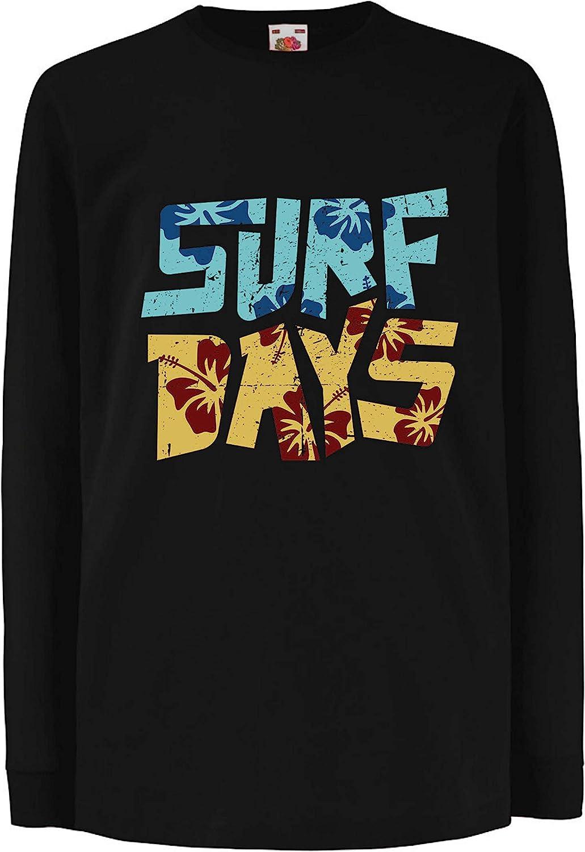 lepni.me Camiseta para Niño/Niña Días de Surf en la Playa en Verano, Ropa para los Amantes de la Tabla de Surf: Amazon.es: Ropa y accesorios
