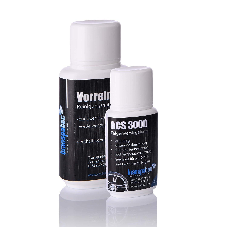 ACS3000 FelgenVersiegelung Set, 25ml (Keramik und Nano Waren gestern!) Transpa-Tec GmbH ACS3000-25
