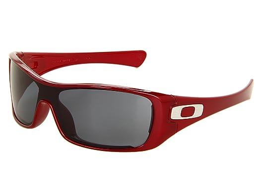 d511a213067 Amazon.com  Oakley Men s Antix Sunglasses (Metallic Red Frame Grey ...