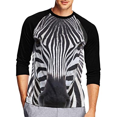 f5fcc9c6 Pmftryuer Fashion Zebra Men Print 3/4-Sleeve T-Shirt, Casual T Shirts Scoop  Neck Tops Tee | Amazon.com