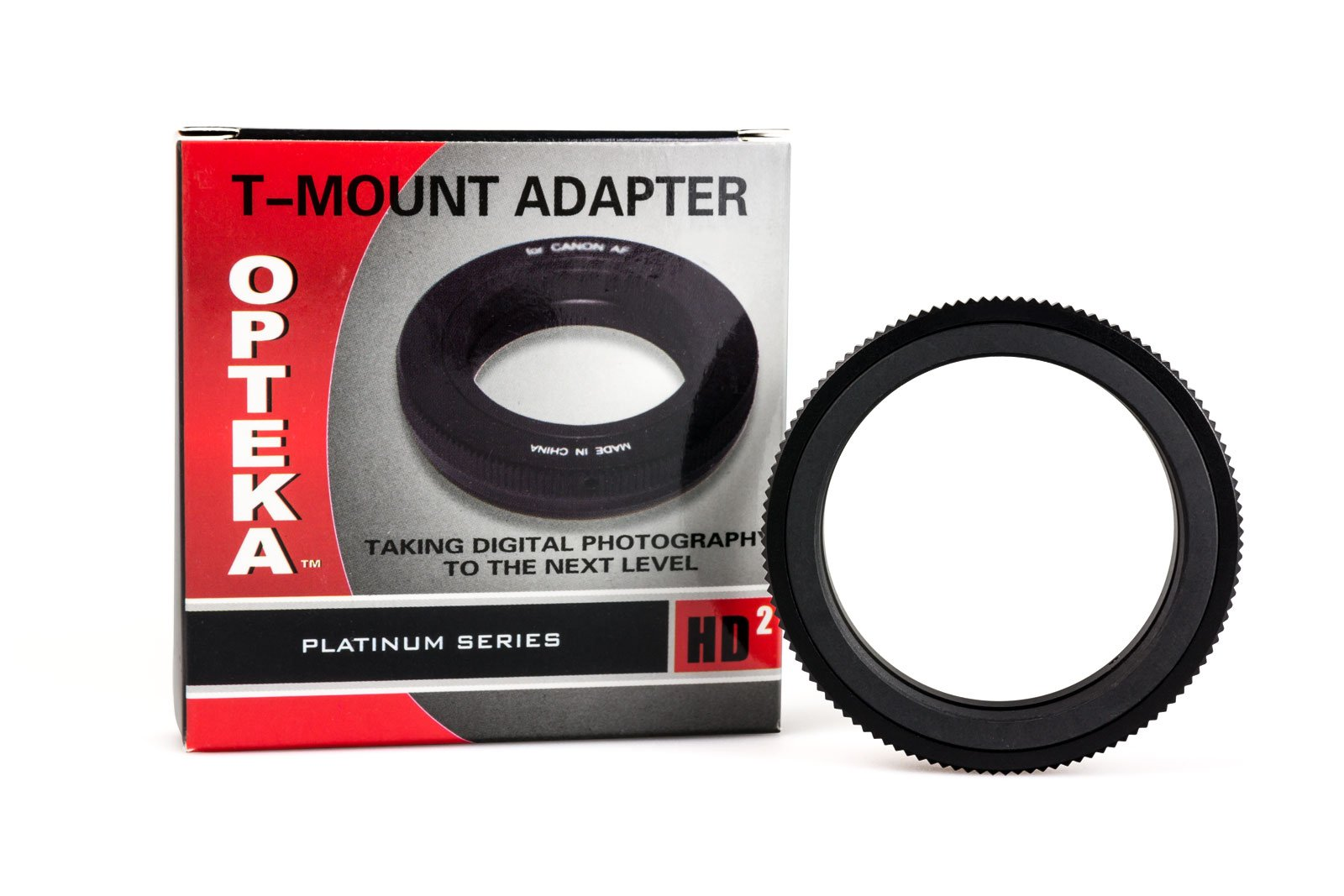 Opteka T-Mount (T2) Adapter for Nikon D5, D4, D3X, D3, D810, D800, D750, D500, D610, D600, D300, D7200, D7100, D5500, D5300, D5200, D5100, D3300, D3200 and D3100 Digital SLR Cameras