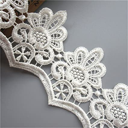 2 yards White Lace Edge Trim Wedding Bridal Dress Ribbon Sewing Craft DIY Decor