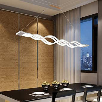 Lonfenner Apres La Table Lampe Lustre Led Minimaliste Moderne Vague