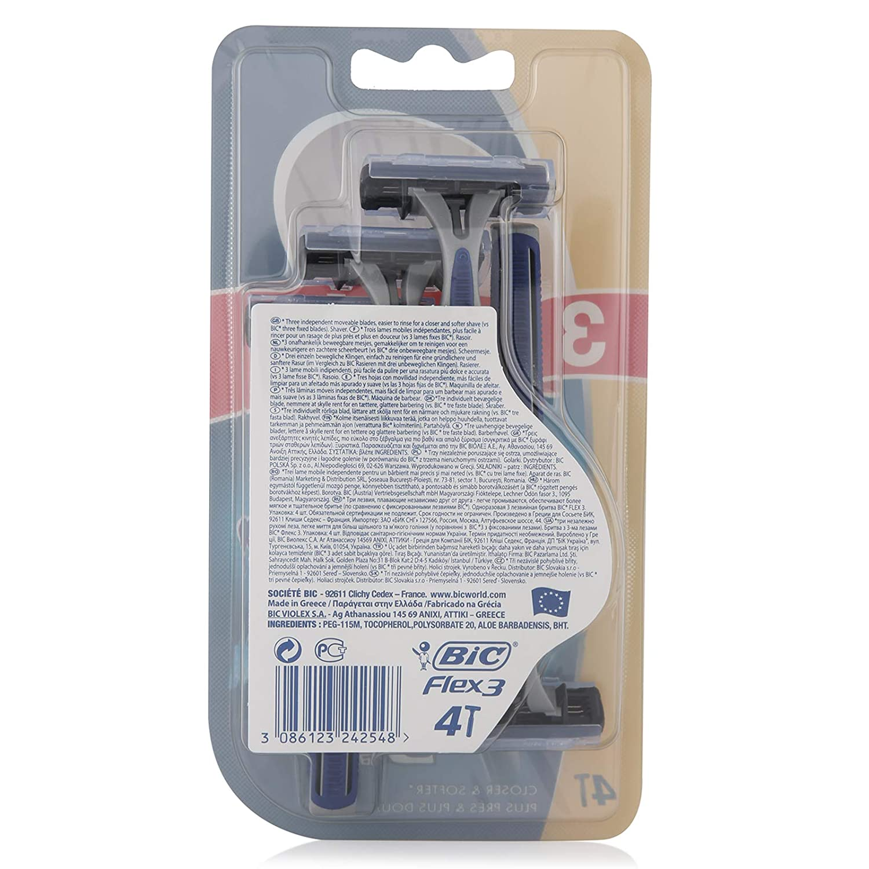 BIC Flex 3 Confort Maquinillas de Afeitar Desechables (3+1 Uds.)   Amazon.es  Belleza 1998a2d6ed1b