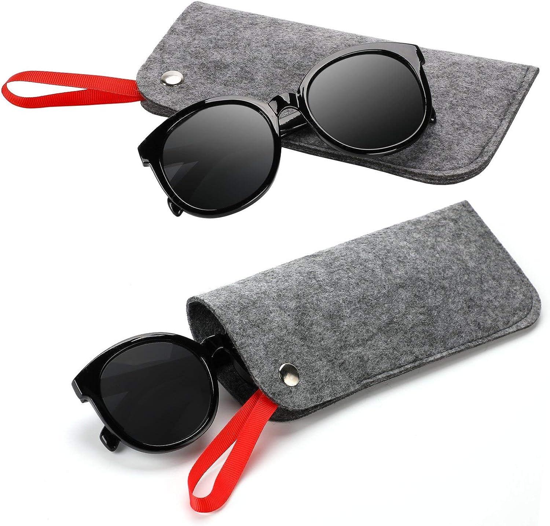 Etui f/ür Sonnenbrillenetui Kungfu Mall Brillenetui 3er-Pack tragbarer Reiseschein aus leichtem Filz in Brillenetui