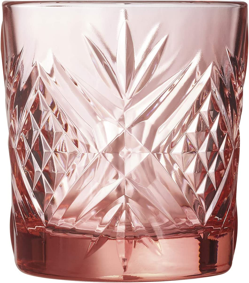 Set 6 vasos de vidrio resistente forma baja 30 CL BROADWAY ROSA ARC