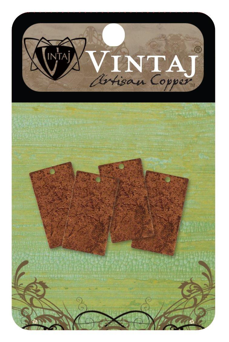 Vintaj Métal Altered Blanks-rectangles 22.5mmx12.5mm 4//pkg