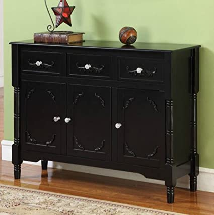 Wood Console Table with Storage - This Accent Furniture Has 2 Cabinets and 3 Drawers w & Amazon.com: Wood Console Table with Storage - This Accent Furniture ...