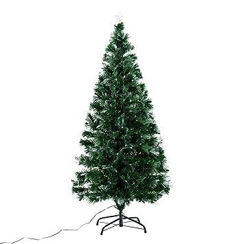 fa5ce494ea0ce HOMCOM Árbol de Navidad 150cm Artificial Árboles con 180 Luces LED 7 Colores  y Estrella Decorativa Brillante Árbol con Soporte Fibra Óptica  Amazon.es   ...