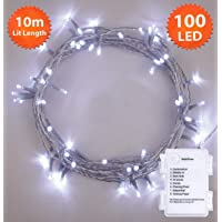 100 Bright White Clear Cable
