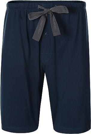 DAVID ARCHY Conjunto de pijama para hombre/pantalones cortos de pijama para hombre, 100% algodón para hombre, conjunto de pijama corto, pantalones ...