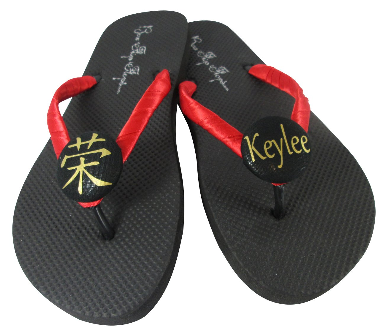 632a558a9aab Amazon.com  Karate Personalized Flip Flops