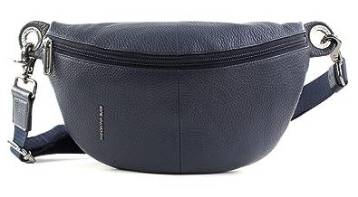 MANDARINA DUCK Mellow Leather Crossover Tasche Dress Blue Blau Neu