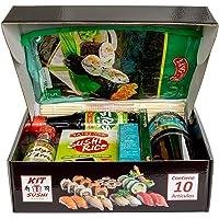 Regalo original para hacer SUSHI . Contiene 10 ingredientes y utensilios.