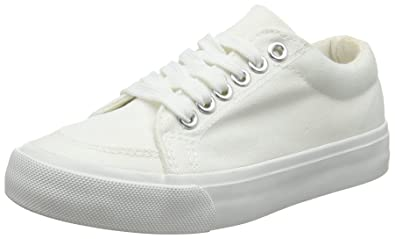 4a7ee7644bfb2 New Look Girls' Mayes Trainers (White), 6 UK (39 EU): Amazon.co.uk ...
