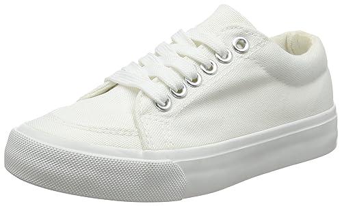 New Look Mayes, Zapatillas Chica, Blanco (White 10), 37 EU: Amazon.es: Zapatos y complementos