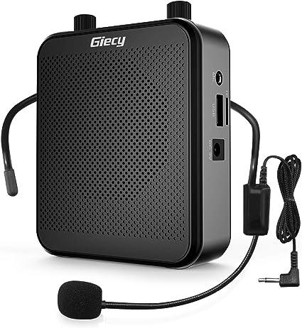Amplificador de voz con micrófono con cable, altavoz Bluetooth de 30 W 2600 mAh, portátil, sistema de altavoz PA recargable para múltiples ubicaciones como aula, reuniones, promociones y al aire libre: Amazon.es: