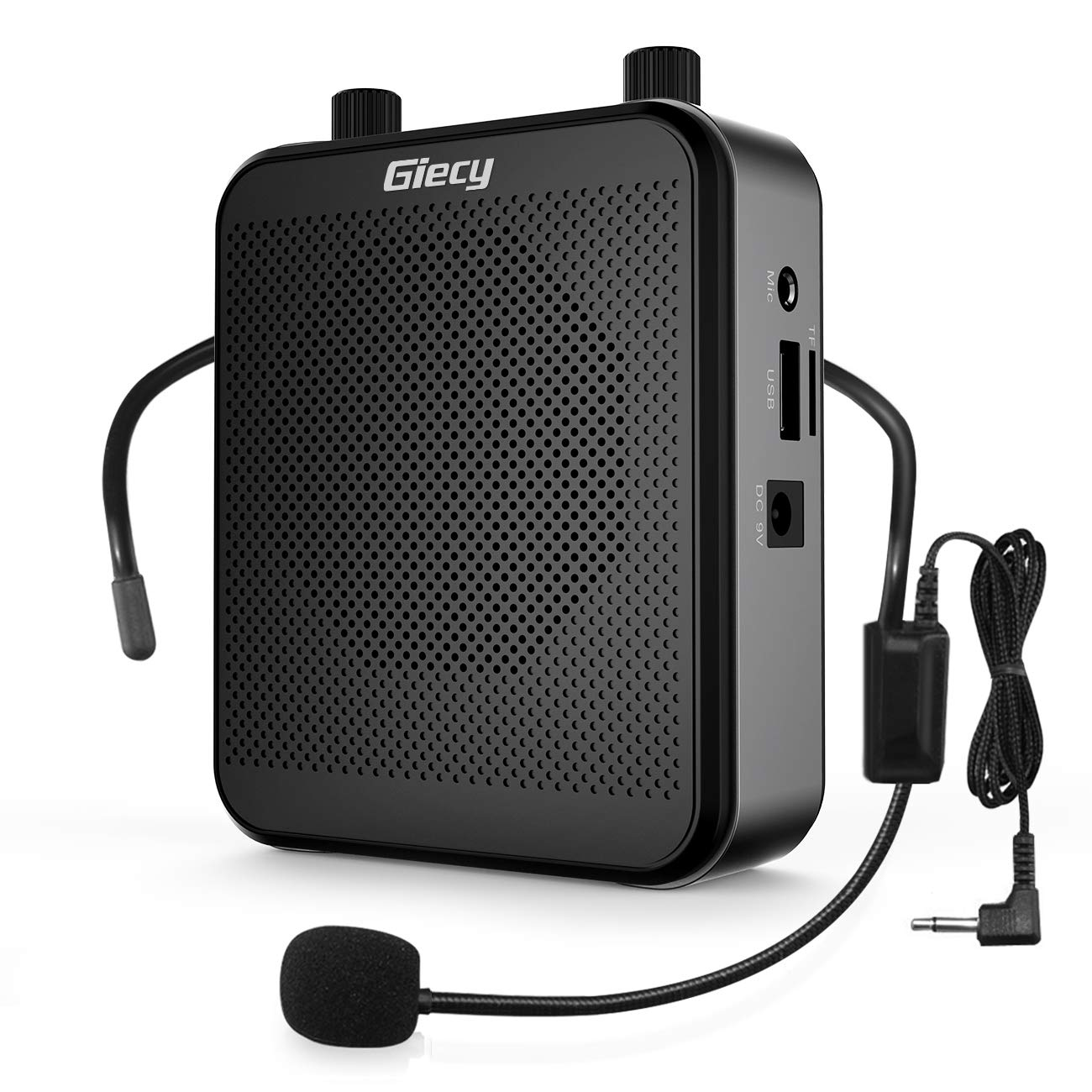 Giecy Voice Amplifier Portable Bluetooth 30W 2800mAh Rechargeable PA System Speaker for Multiple Locations Such as Classroom, Meetings and Outdoors by Giecy