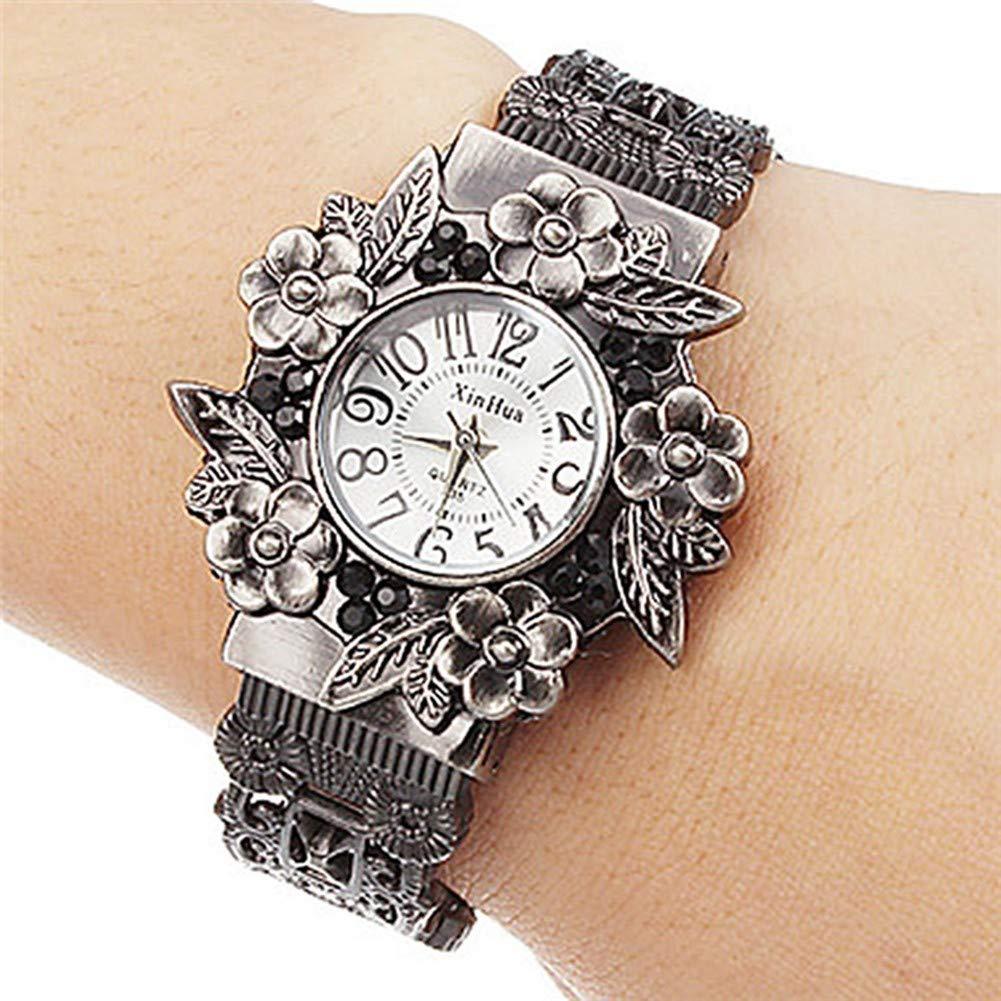 GBVFCDRT Frauen Armbanduhr Retro Uhren Vintage Armbanduhr Quarz Luxus Weiblichen Feminino Casual Armbanduhr Xinhua Mode Uhren