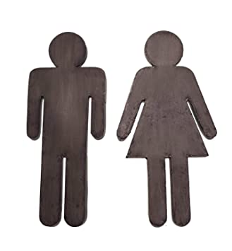 boys and girls bathroom signs. amazon.com: bathroom door sign boy and girl male female metal set of 2: home \u0026 kitchen boys girls signs d