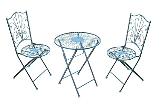 Tavoli Da Giardino Vintage.Spetebo Set Bistro In Metallo 2 Sedie Da Giardino E 1 Tavolo Da