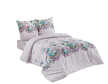 Bettwäsche 200x220 Baumwolle Bettgarnitur Mit Reißverschluss 3