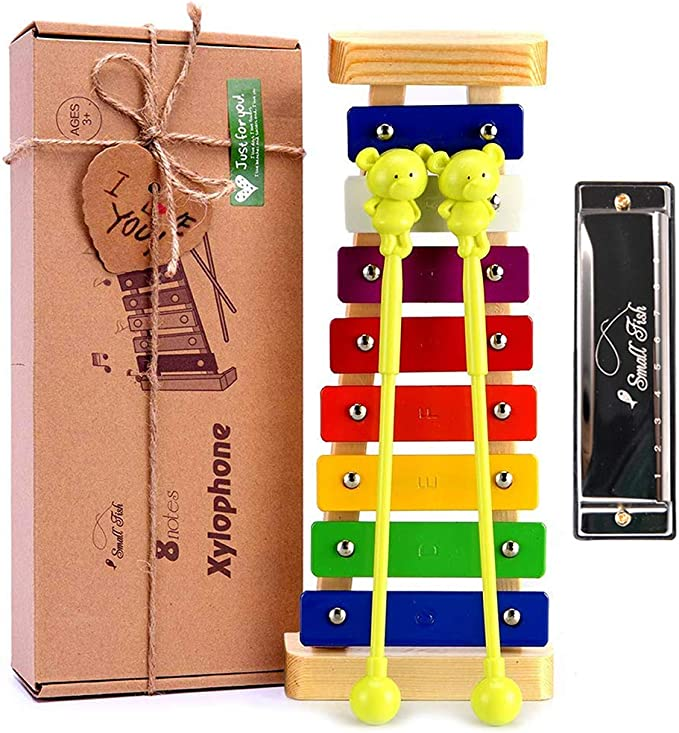 Xylophone for Kids: Best Holiday/Birthday DIY Gift Idea for your Mini Musicians, Musical Toy with Child Safe Mallets, Perfectly Tuned Instrument for ...